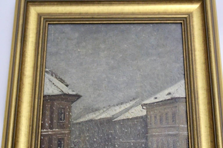 Winter in Vienna by Emil Fiala, 1906 For Sale 1