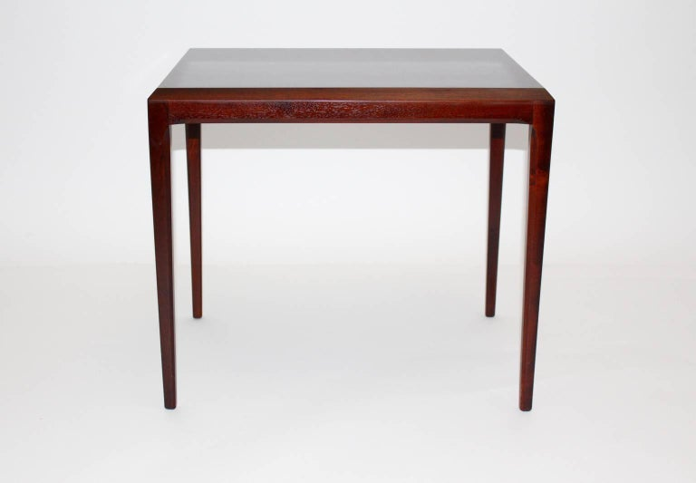 This side table was designed by Johannes Andersen, circa 1963, Denmark.