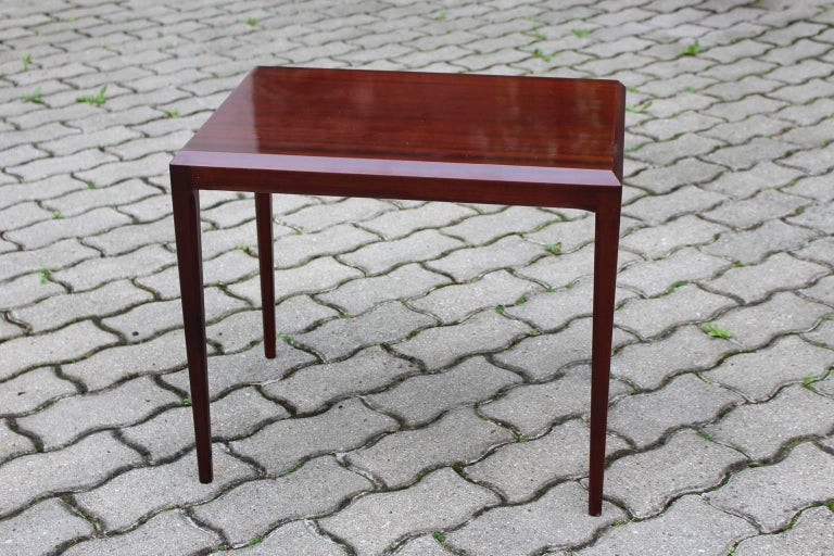Rosewood Mid Century Modern Side Table by Johannes Andersen, circa 1963, Denmark For Sale 1
