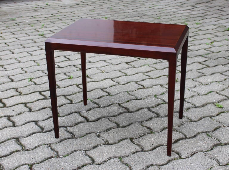 Rosewood Mid Century Modern Side Table by Johannes Andersen, circa 1963, Denmark For Sale 2