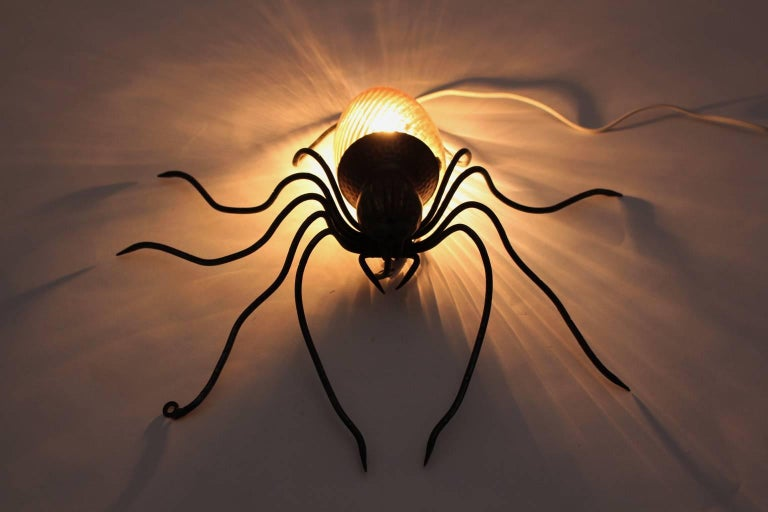 Spider Wall Lamp, 1950s, Italy In Good Condition For Sale In Vienna, AT