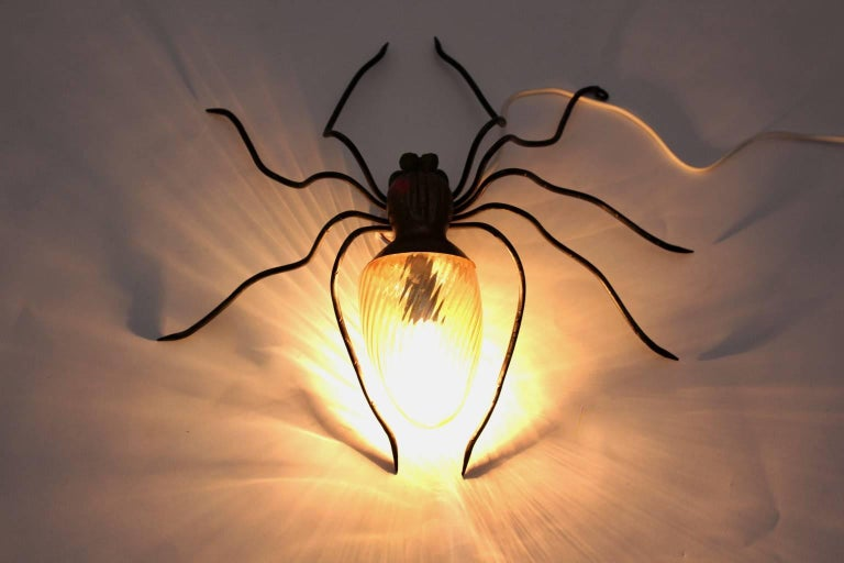 20th Century Spider Wall Lamp, 1950s, Italy For Sale