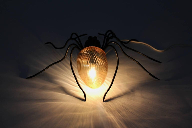 Metal Spider Wall Lamp, 1950s, Italy For Sale