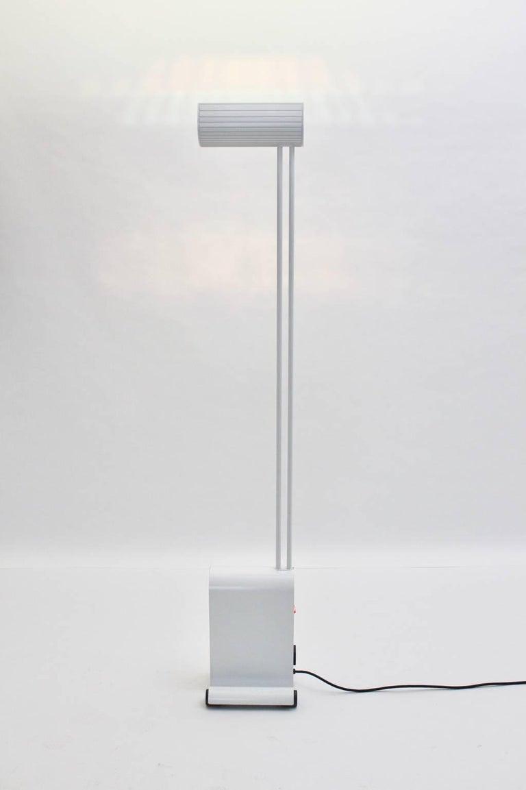 Modern White Floor Lamp by Hartmut Engel, 1985 For Sale