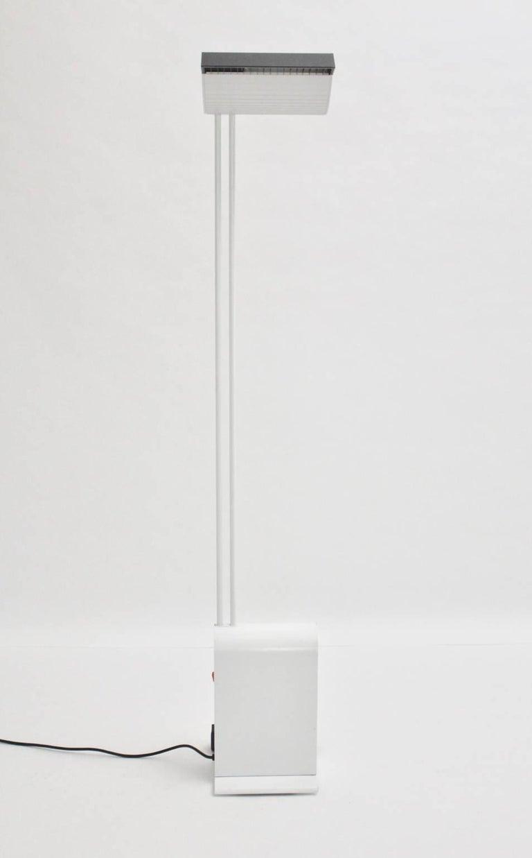 German White Floor Lamp by Hartmut Engel, 1985 For Sale