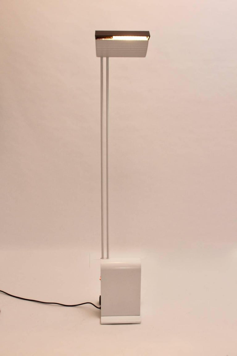 White Floor Lamp by Hartmut Engel, 1985 In Excellent Condition For Sale In Vienna, AT