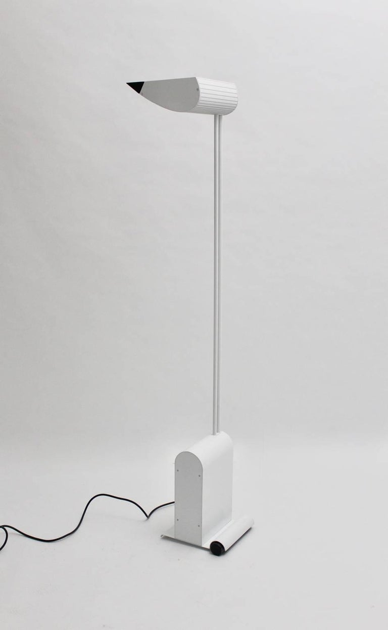 Late 20th Century White Floor Lamp by Hartmut Engel, 1985 For Sale