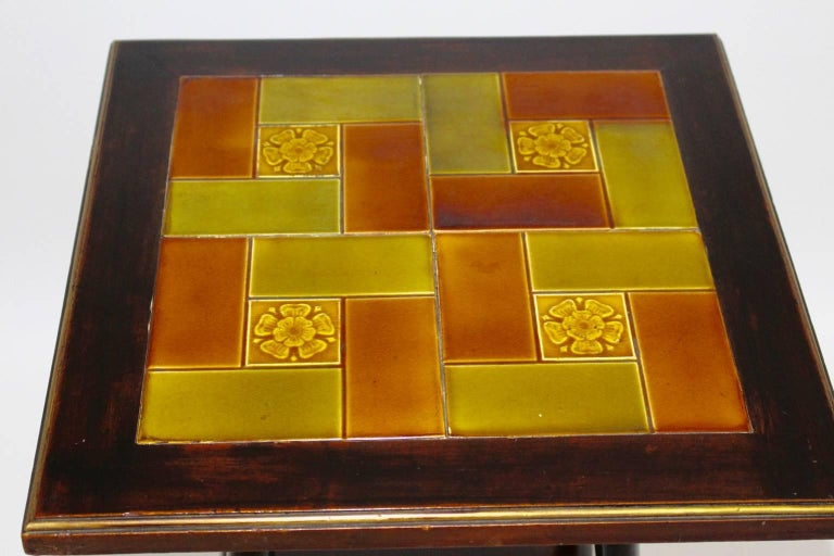 Art Deco Era Side Table, circa 1930 with Ceramic Tiles Used by Adolf Loos In Good Condition For Sale In Vienna, AT
