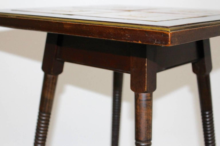 Art Deco Era Side Table, circa 1930 with Ceramic Tiles Used by Adolf Loos For Sale 1