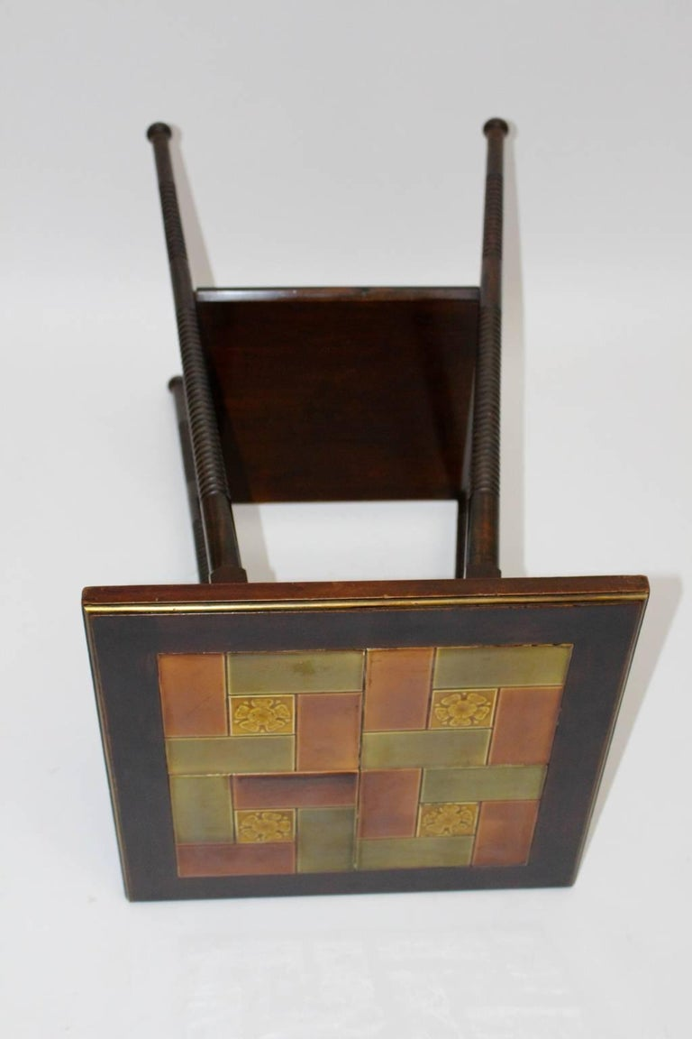 Art Deco Era Side Table, circa 1930 with Ceramic Tiles Used by Adolf Loos For Sale 2