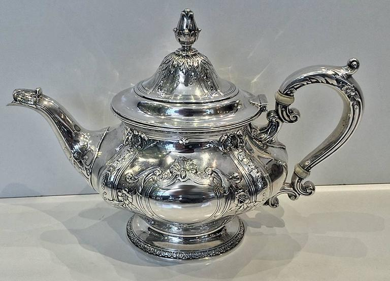 Seven Piece Gorham Sterling Silver Tea And Coffee Service