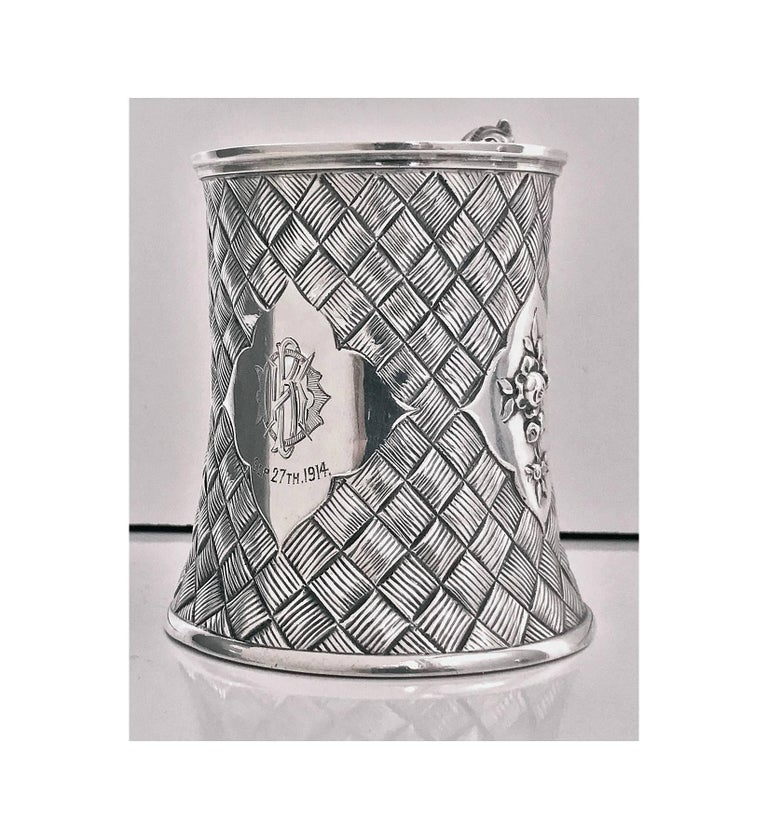 Great Britain (UK) Antique Silver Mug, London 1863 by Robert Harper For Sale