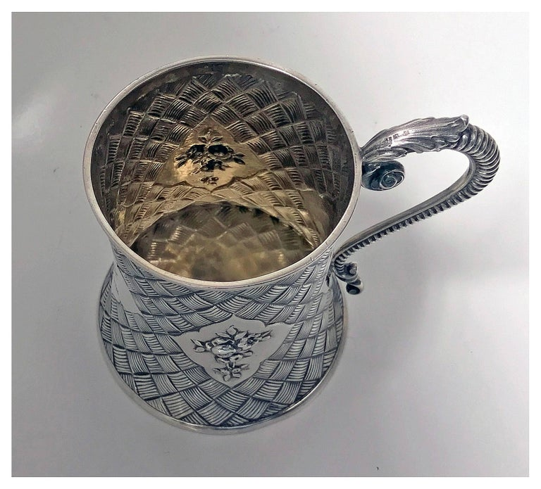 Antique Silver Mug, London 1863 by Robert Harper In Good Condition For Sale In Toronto, Ontario