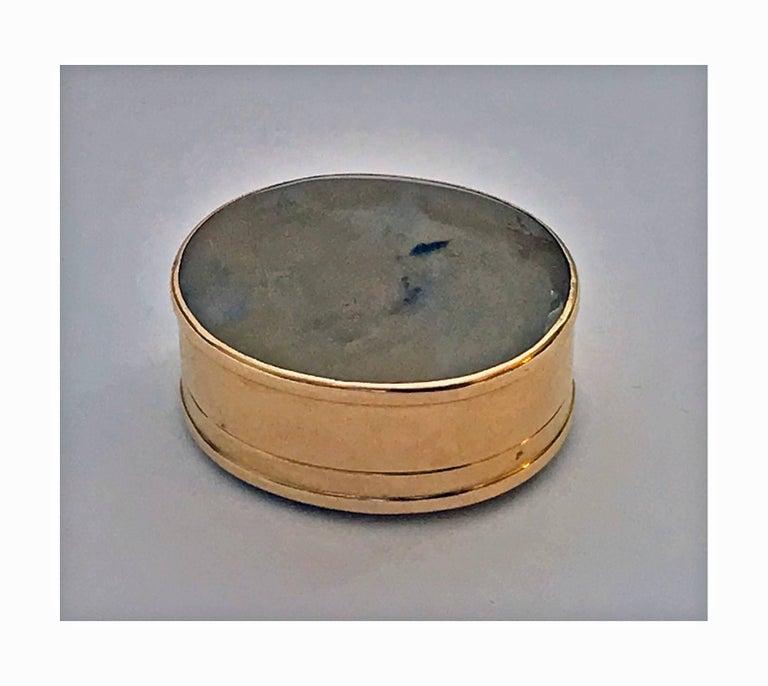 Georgian Gold and Moss Agate Vinaigrette, circa 1800 For Sale 2