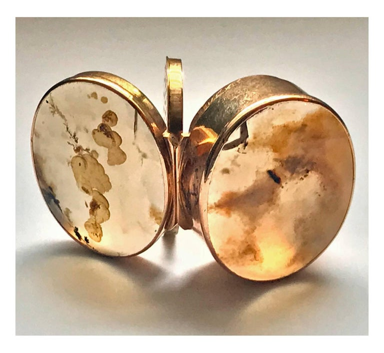 Georgian Gold and Moss Agate Vinaigrette, circa 1800 In Good Condition For Sale In Toronto, Ontario