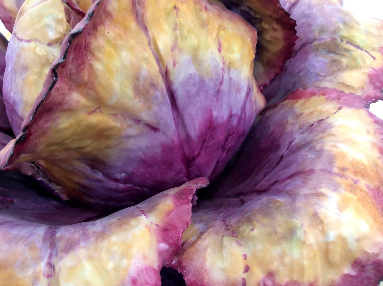 Purple cabbage centerpiece at stdibs