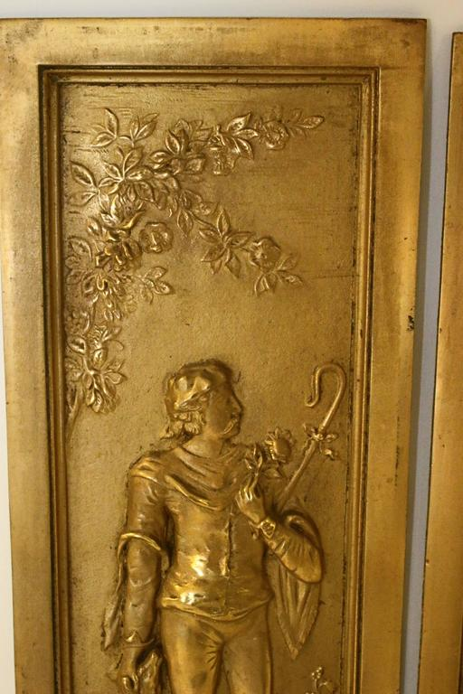 19th Century Cast Bronze Relief Panels In Good Condition For Sale In Savannah, GA