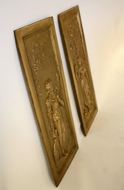 19th Century Cast Bronze Relief Panels For Sale 1