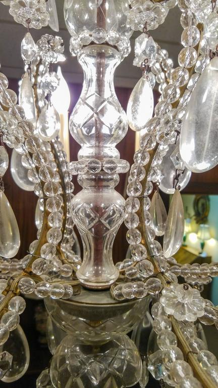 Rococo 19th century French Eight-Light Crystal Chandelier
