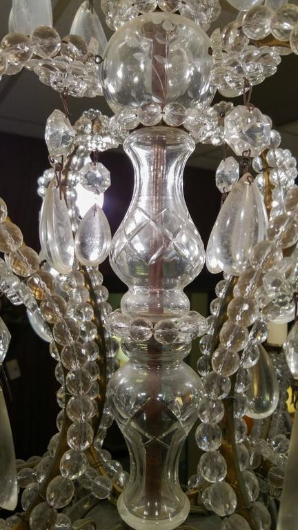 19th century French Eight-Light Crystal Chandelier 2