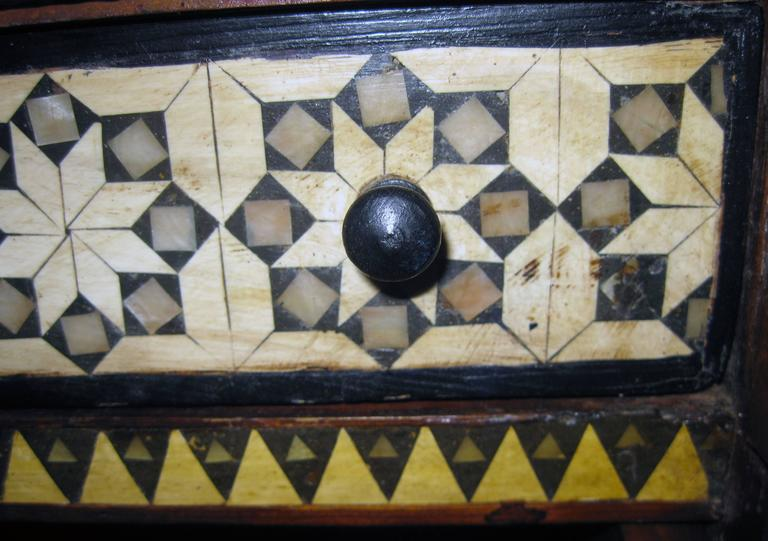 Moorish 19th Century Inlaid Moroccan Miniature Chest For Sale