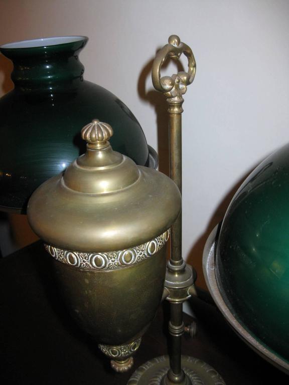 century double student kerosene burning oil lamp for sale at 1stdibs. Black Bedroom Furniture Sets. Home Design Ideas