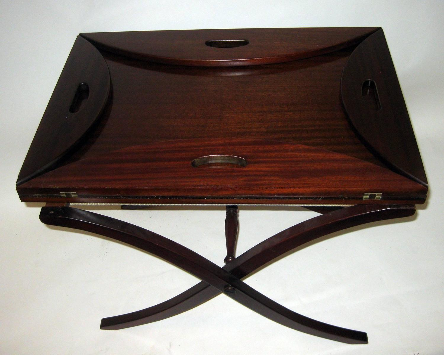 19th Century English Mahogany Butler 39 S Tray Table For Sale At 1stdibs