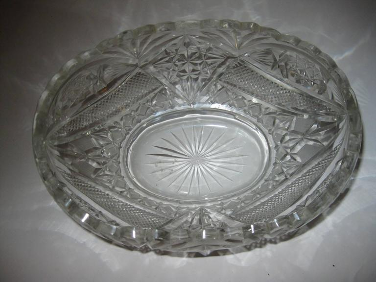 Pair of 19th Century Irish Crystal Fruit Bowls For Sale 4