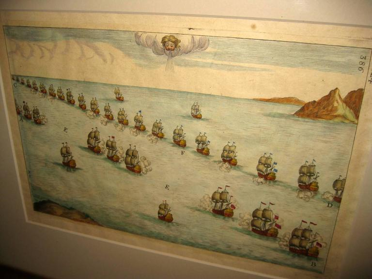 Unknown 18th century Set Hand Colored Nautical Engravings For Sale