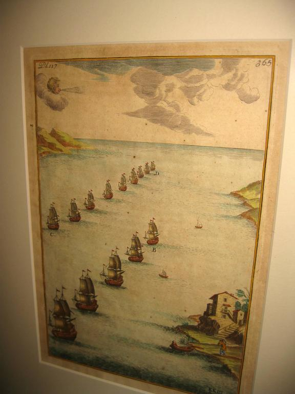 18th century Set Hand Colored Nautical Engravings In Good Condition For Sale In Savannah, GA