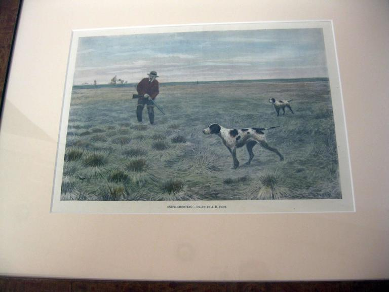 American 19th Century Sporting Prints by A.B. Frost Set of Four For Sale