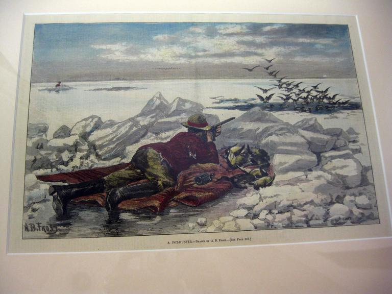 19th Century Sporting Prints by A.B. Frost Set of Four In Good Condition For Sale In Savannah, GA