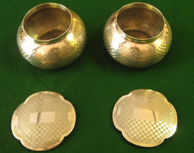 Art Deco Sterling Silver Dresser Set In Good Condition For Sale In Savannah, GA