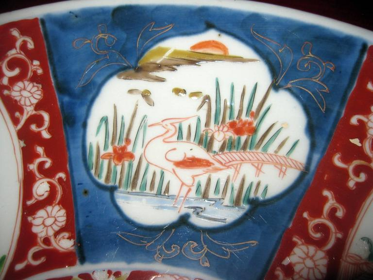 Porcelain 19th century Japanese Imari Petite Charger For Sale