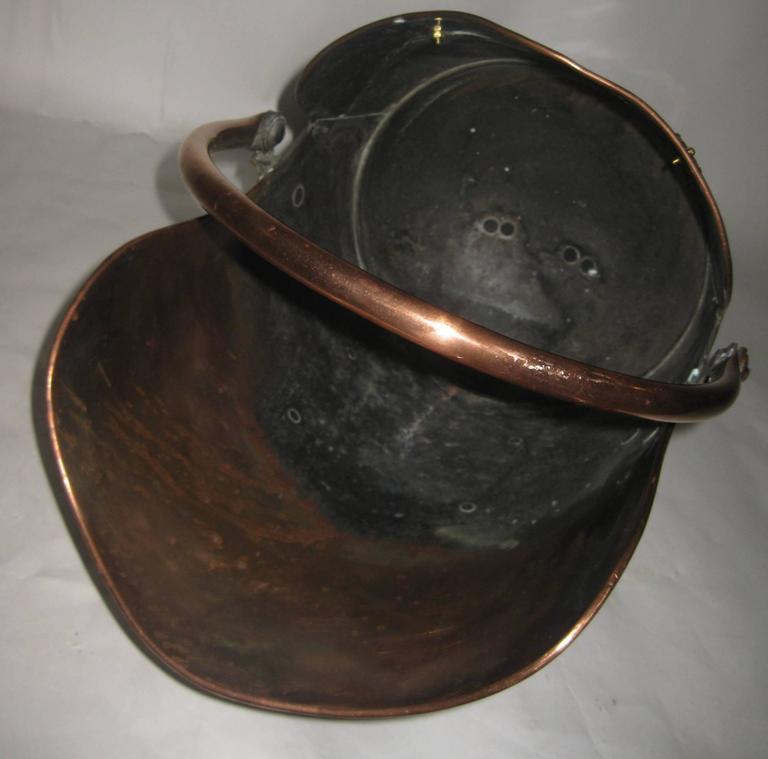 19th century Scottish Helmet Copper Coal Scuttle For Sale 4