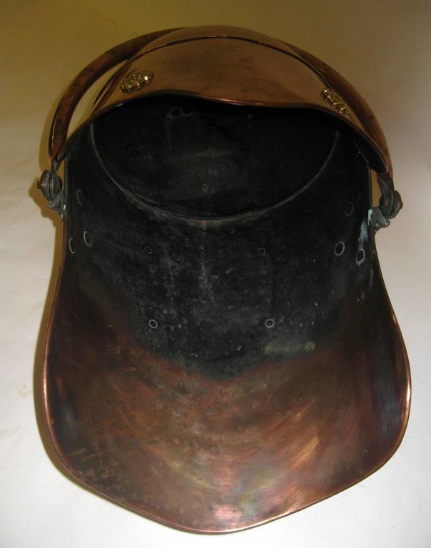 19th century Scottish Helmet Copper Coal Scuttle For Sale 5
