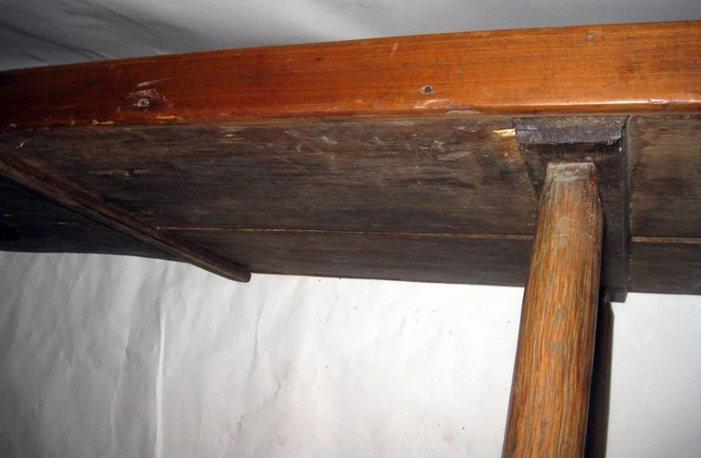 Primitive 19th Century Early American Maple Cobblers Bench