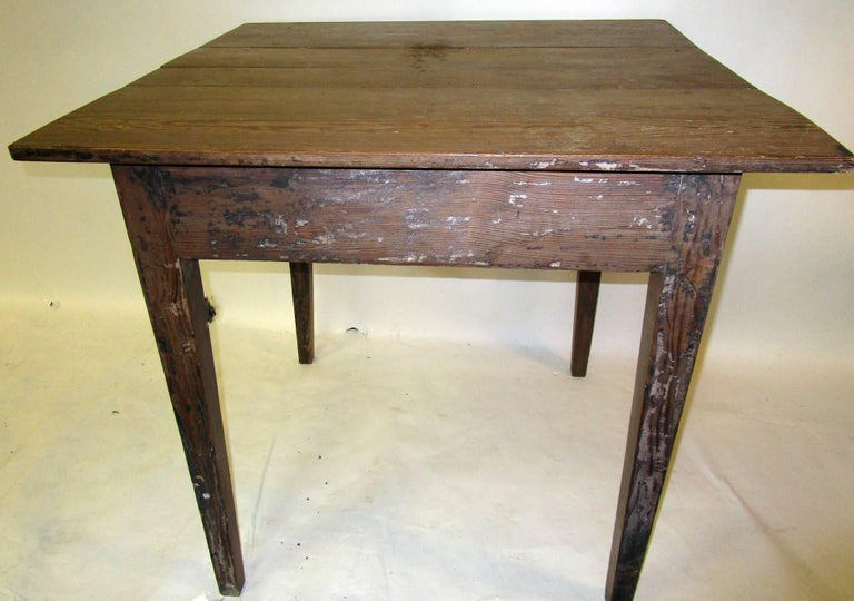 19th century American Primitive Cypress Work Table For Sale 5