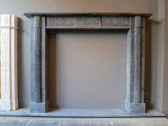 A Late 18th Century Irish Grey Marble Fireplace Mantle