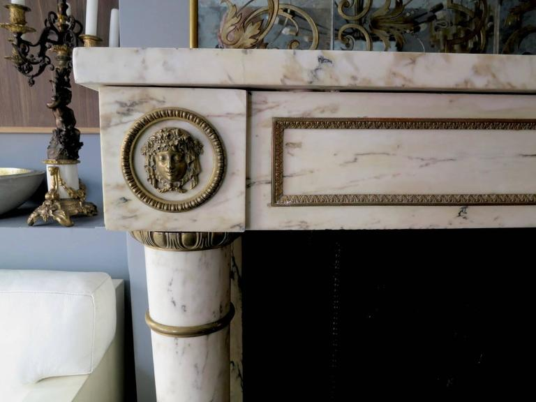 french rococo fireplace 19th century french empire style fireplace mantel in breche marble