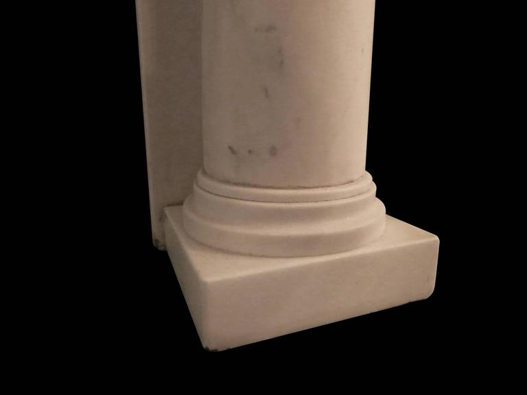 Regency Statuary White Marble Fireplace Mantel 4
