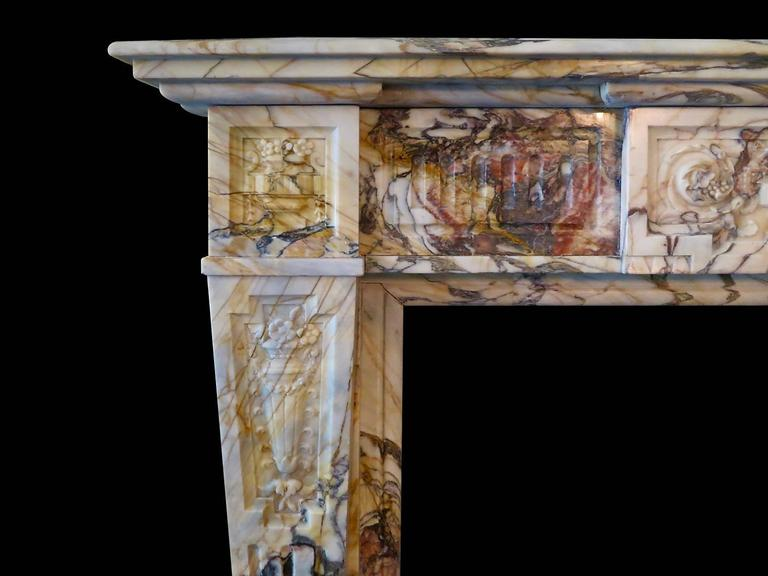 Antique Sarrancolin Marble French Fireplace Mantel 2
