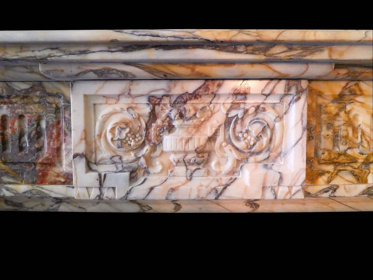 Antique Sarrancolin Marble French Fireplace Mantel 3