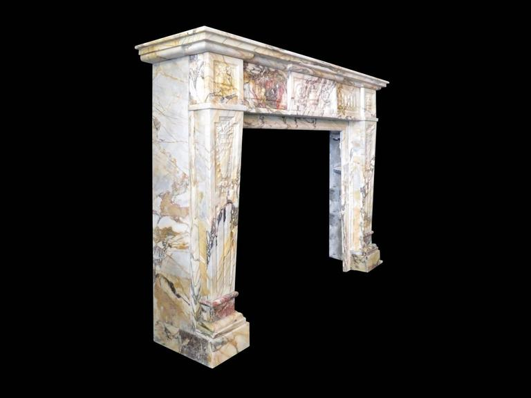 Antique Sarrancolin Marble French Fireplace Mantel 4