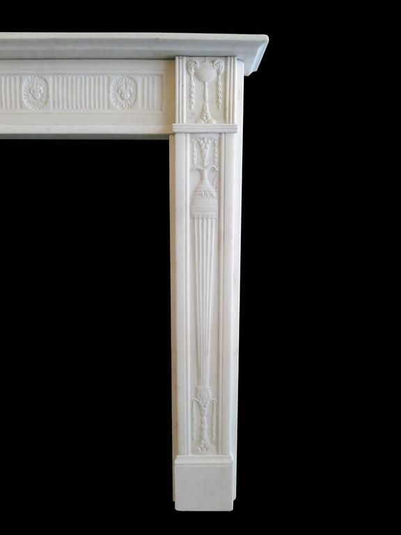 Fine George III Statuary White Marble Fireplace Mantel 3