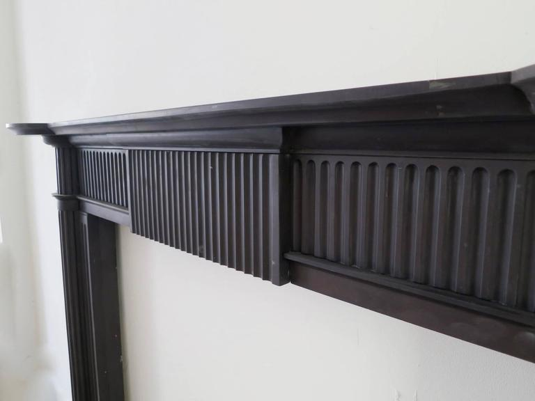 Irish 19th Century Palladian Style Welsh Slate Fireplace Mantle In Excellent Condition For Sale In London, GB