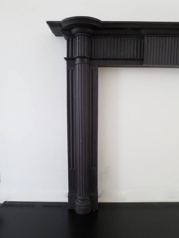 Irish 19th Century Palladian Style Welsh Slate Fireplace Mantle For Sale 1