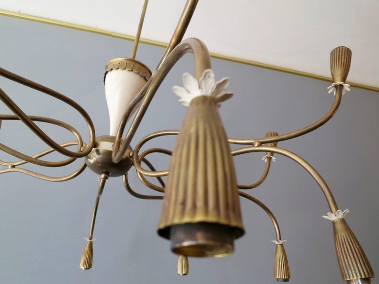 20th Century Italian Mid-Century Chandelier Attributed to Arredoluce For Sale