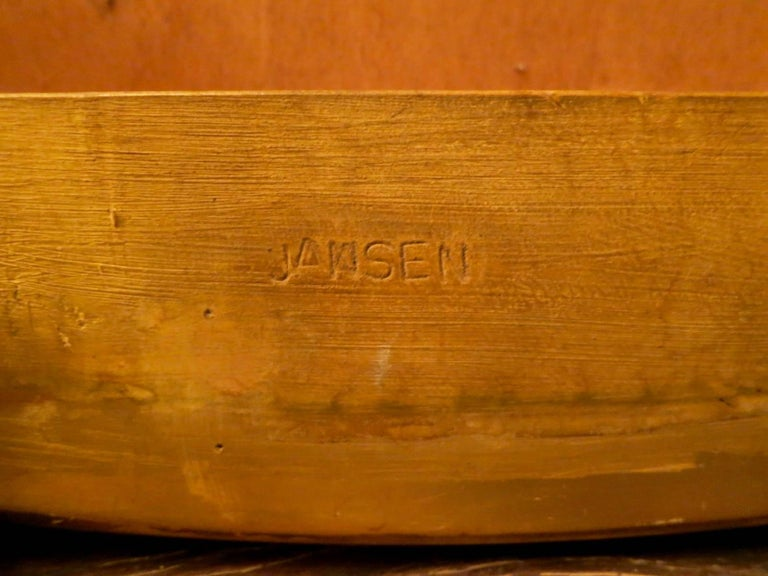 Maison Jansen Parchment and Gold Gilt Table In Good Condition For Sale In London, GB