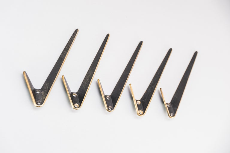 Five asymetric wall hooks by Hertha Baller, Austria, 1950s. Original condition Price and selling per piece.